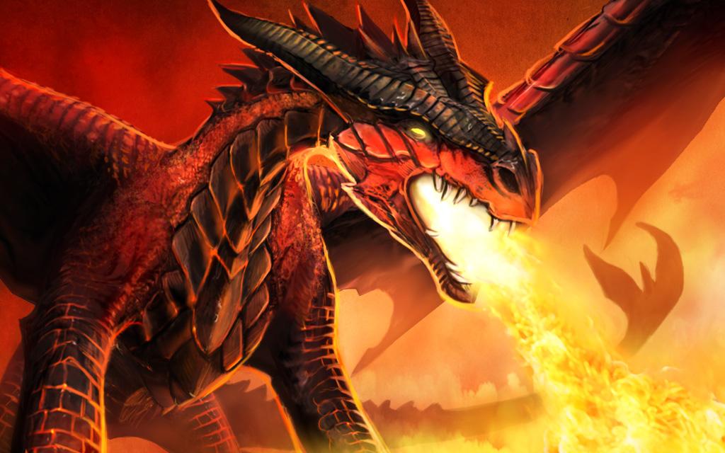 炎を吐き出す龍 その2
