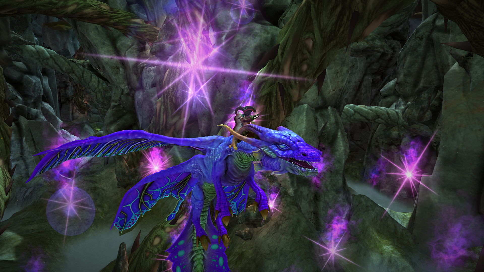 shaman riding the faerie dragon